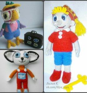 Игрушки - персонажи из любимых мультфильмов!