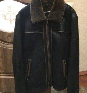 Замшевая дубленка-куртка