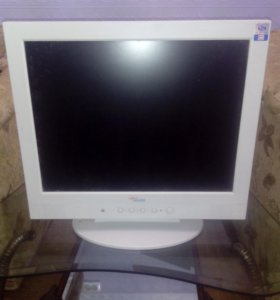 Серо-белый монитор
