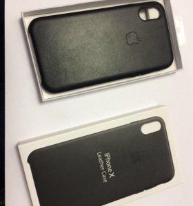 Чехол iPhone X Leather Case Black