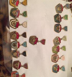Полная коллекция значков республики СССР