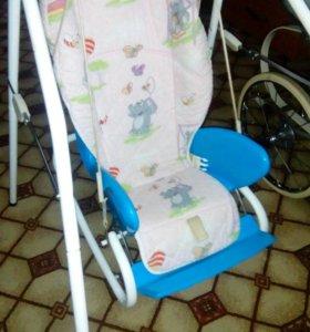 3в1!!!!стул для кормления,качели и кресло качалка