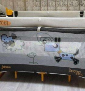 Манеж-кровать с пеленальной доской Jetem Tobi C1