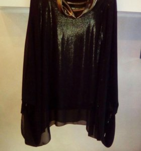 Блуза туника черного цвета