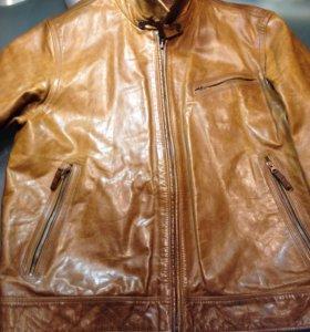 Timberland куртка кожаная. XXL-XXXL