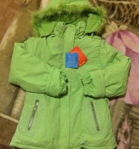 Зимняя новая куртка,на 7-8 лет