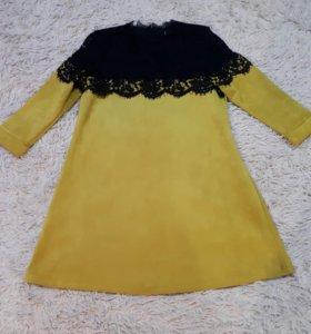 Замшевое платье 48-50