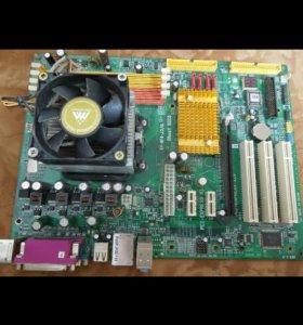 Материнская плата AM2 + процессор
