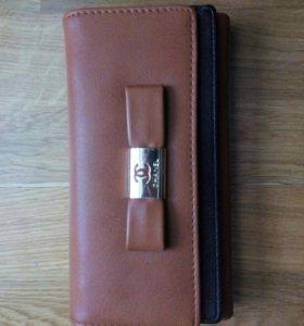 Новый кожаный кошелёк Chanel