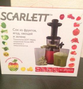 Шнековая соковыжималка Scarlett SC-JE50S33