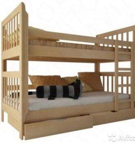 Двухъярусная кровать (новая) Звездочка