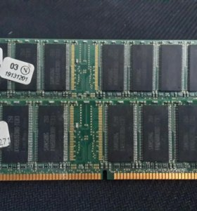 Samsung 256MB DDR PC2700 2шт.