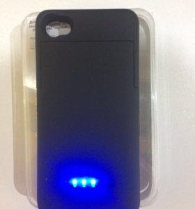 Чехол-аккумулятор для iphone 4/4s (новый)