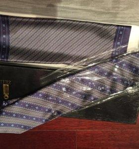 Zilli галстук и платок оригинал в коробке. Новые
