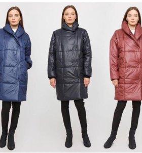 новый пуховик пальто 42-46 оверсайз теплый