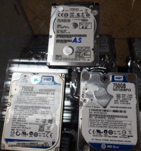 Жесткий диск 750 гб и 500 гб для ноутбуков