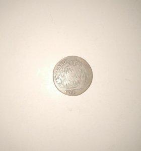 Монета 6 крейцеров 1809 года серебро