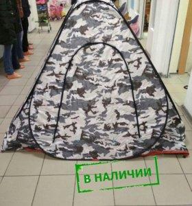 Зимняя палатка-автом с молнией на дне и окном 2x2м