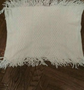 Белый снуд, шарф