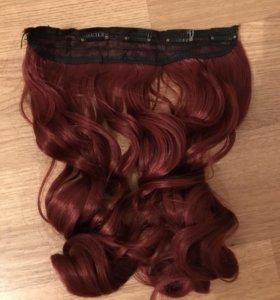 Накладные волосы на клипсах