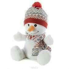 Игрушка грелка Снеговик новая