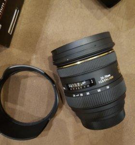 Объектив sigma 24-70mm f2.8 (canon)