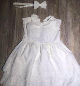 Платье Next 1,5 -2,5 года и повязка чп