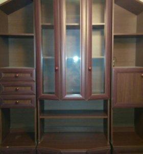 Шкаф для посуды (горка) и полка для телевизора