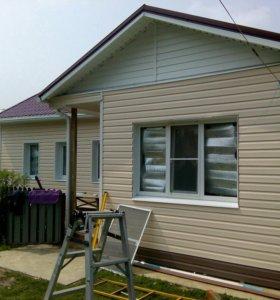 Отделка домов балконов сайдингом