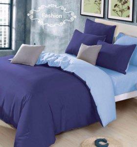 Белье постельное плетение сатин семейный