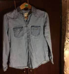 Рубашка джинсовая размер 44-46 (м)