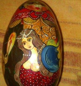 Яйцо, деревянное ручной работы