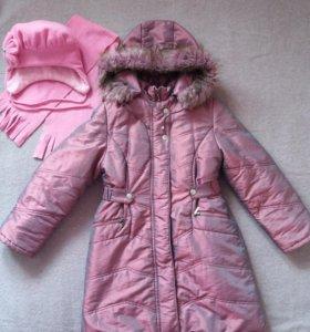 Зимнее пальто 9-10 лет