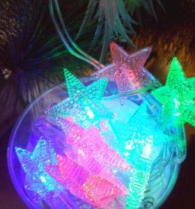 Гирлянды светодиодные и лампочковые