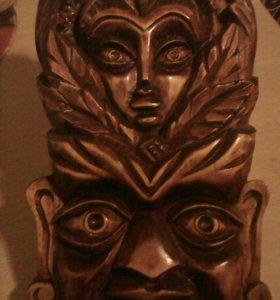 Декор маска дерево