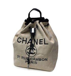 Льняной рюкзак Raffia Chanel LR569