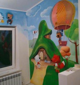 Роспись стен , картины