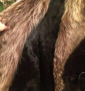 Новая мужская зимняя кожаная куртка