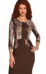 леопардовое платье  44-46