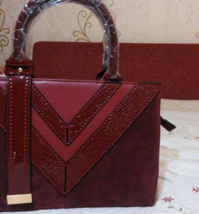 Новая кожаная сумка, фирма RICHEZZA