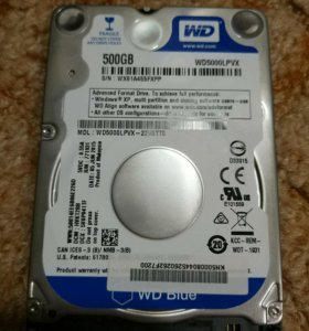 Western Digital 500 GB 2,5""