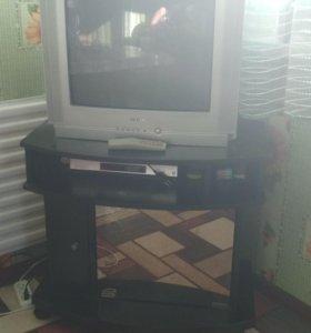 Телевизор+видеомагнитофон+TV_тумба