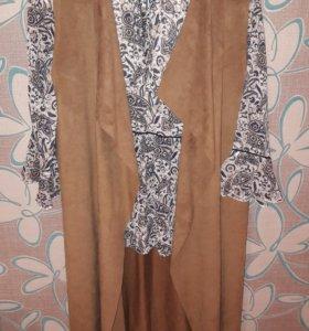 Блузка и кардиган ostin, размер s