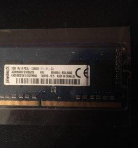 ОЗУ kingston DDR3L 2гб