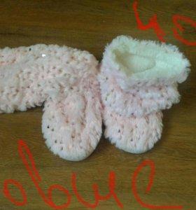 Новые теплые тапочки-сапожки для дома