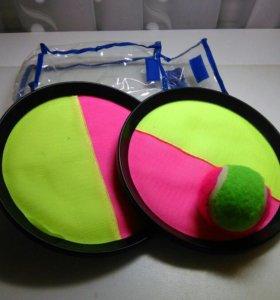 Набор игры с тарелками-ловушками и мячом