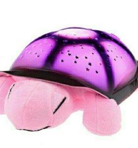 Черепаха морская ночник звездное небо музыкальная