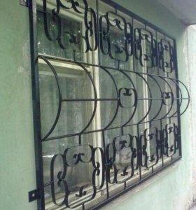 Металлические решетки на окна.