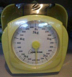 Весы кухонные 5кг желтые