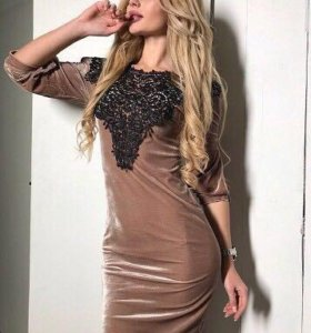 Новое платье -бархат.